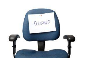 shutterstock - resigned chair
