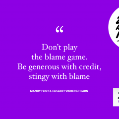 Don't play the blame game